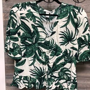 Tropical blouse from H&M size 8